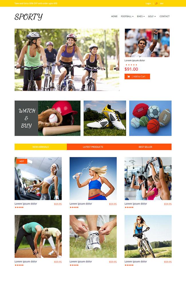 运动健身器材HTLM5模板06160931