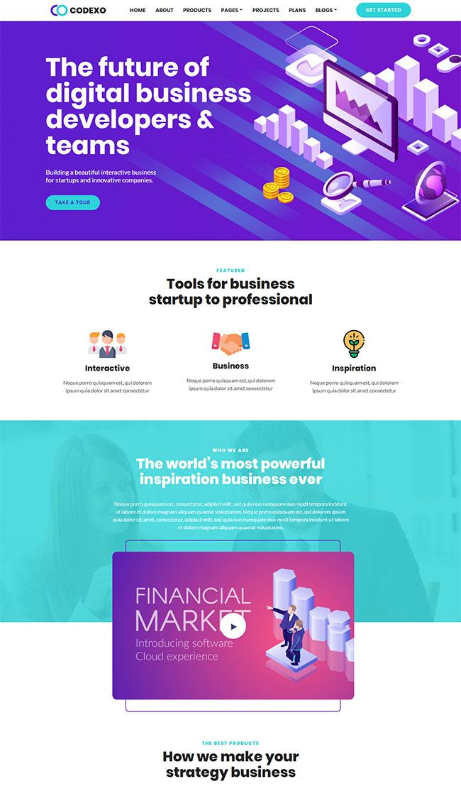 虚拟交易金融网站模板06172203