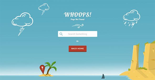 蓝色浩瀚海洋404模板07171542