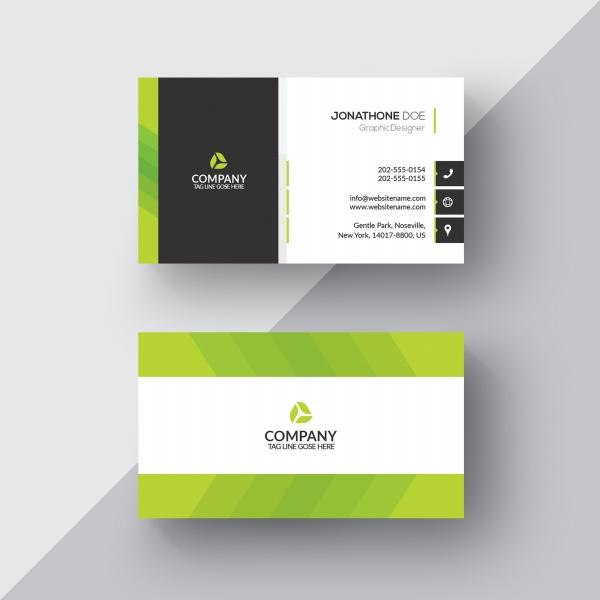 绿色商务名片模板源文件08032131
