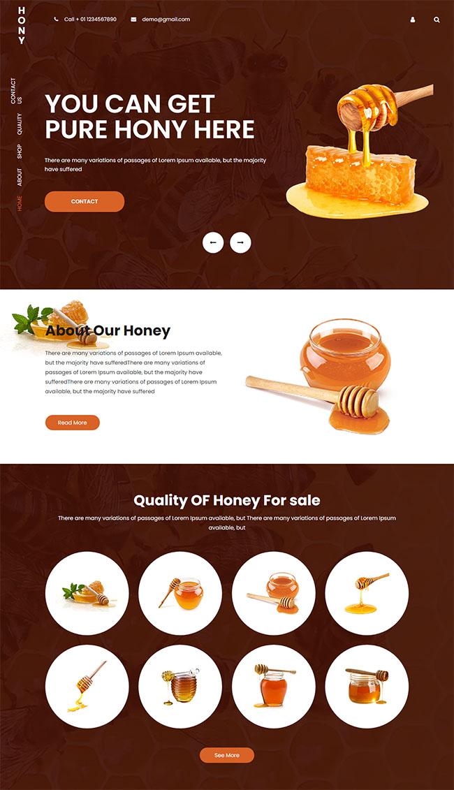 蜂蜜生产厂家网站模板08111002