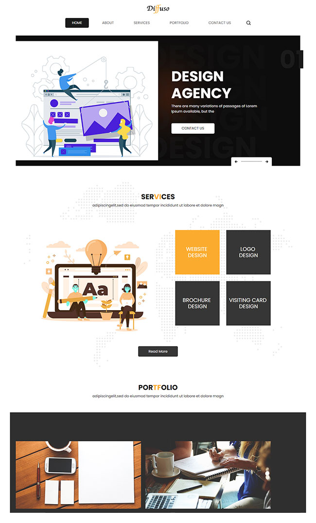 创意设计公司网站模板826