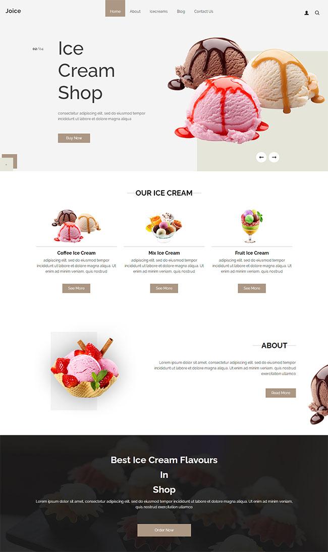 蛋糕奶油店HTML5模板1227