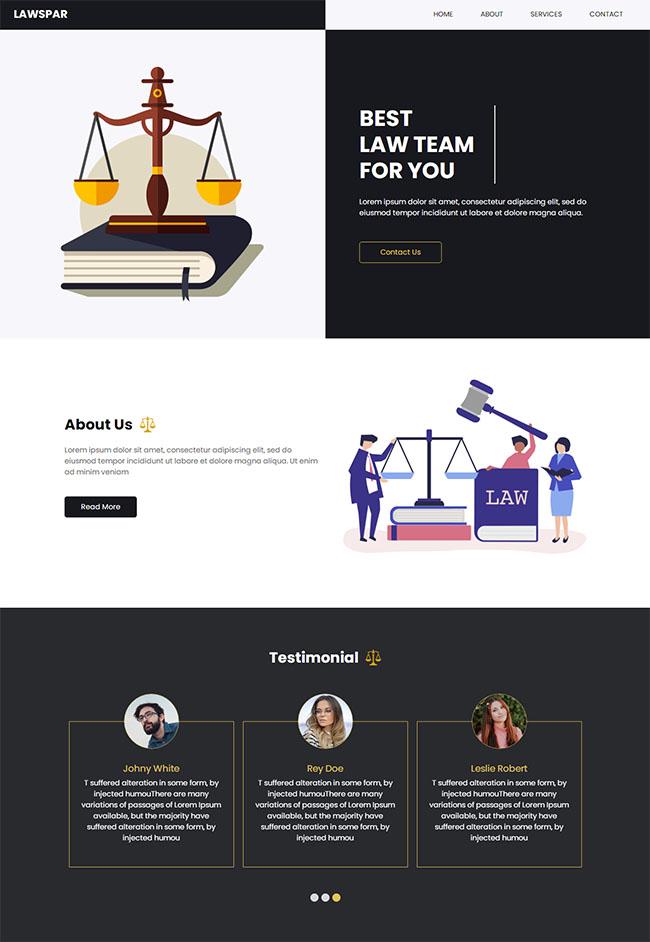 律师法律咨询网站HTML5模板1228