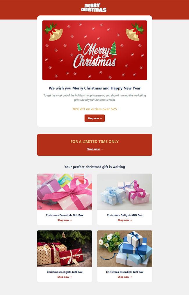 祝您圣诞快乐网站模板104