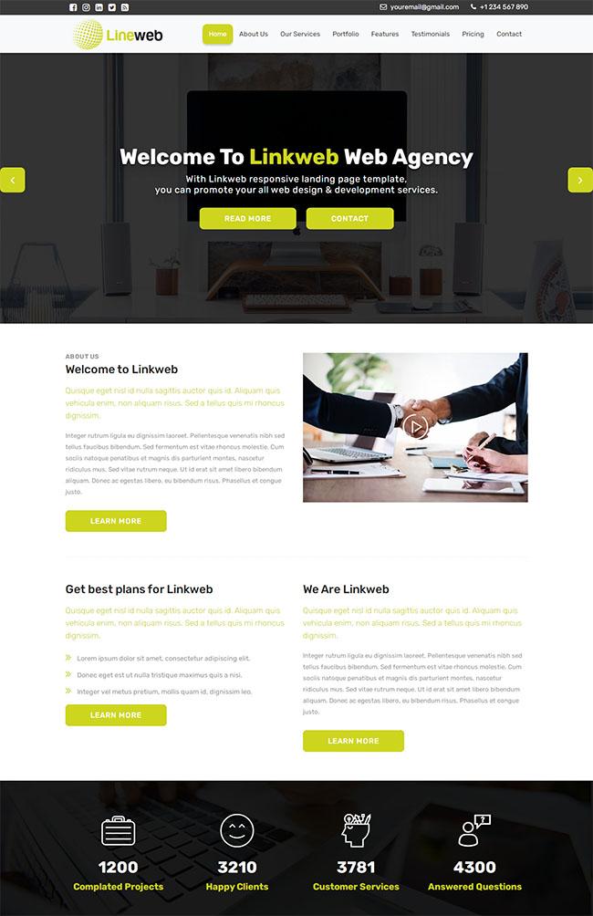 Linkweb链接交易网站模板116