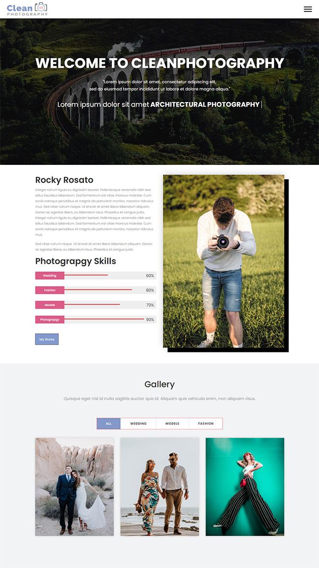 人像摄影拍摄网站模板118