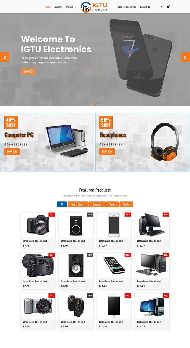 手机数码产品电商网站模板120