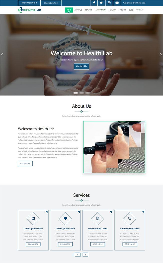 疫苗接种医院网站模板