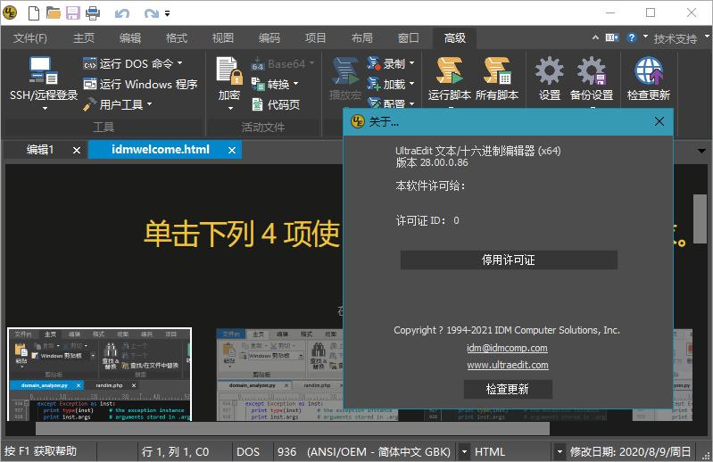 IDM UltraEdit v28.00.0.86 中文绿色特别版