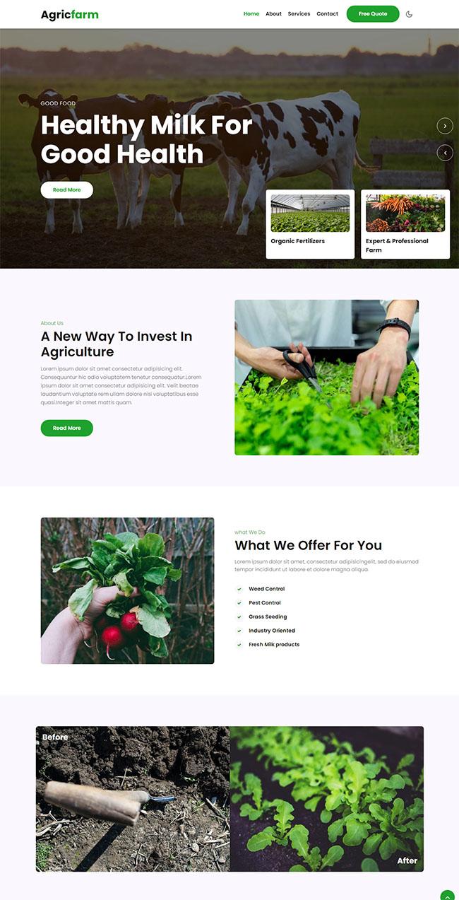 农业科技公司网站模板222