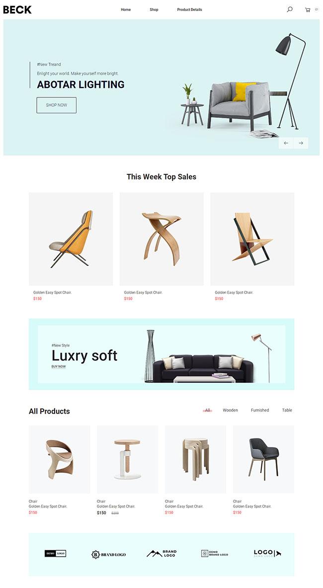 奢家馆家具建材公司网站模板302