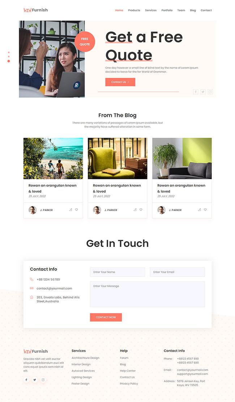 创意产品设计公司网页模板306