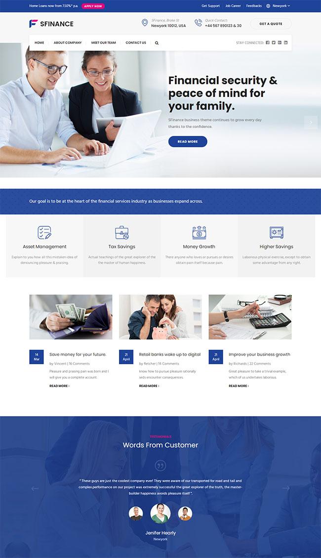 银行金融服务网站HTML模板310