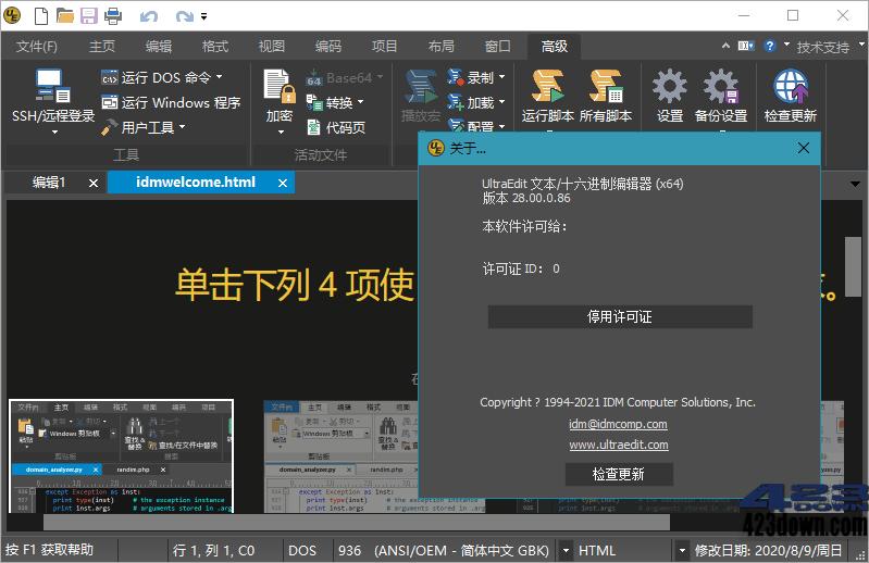 IDM UltraEdit 28.00.0.114 中文绿色特别版