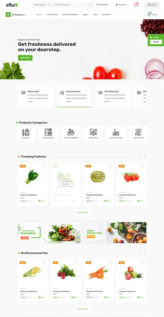 蔬菜水果超市电商网站模板326