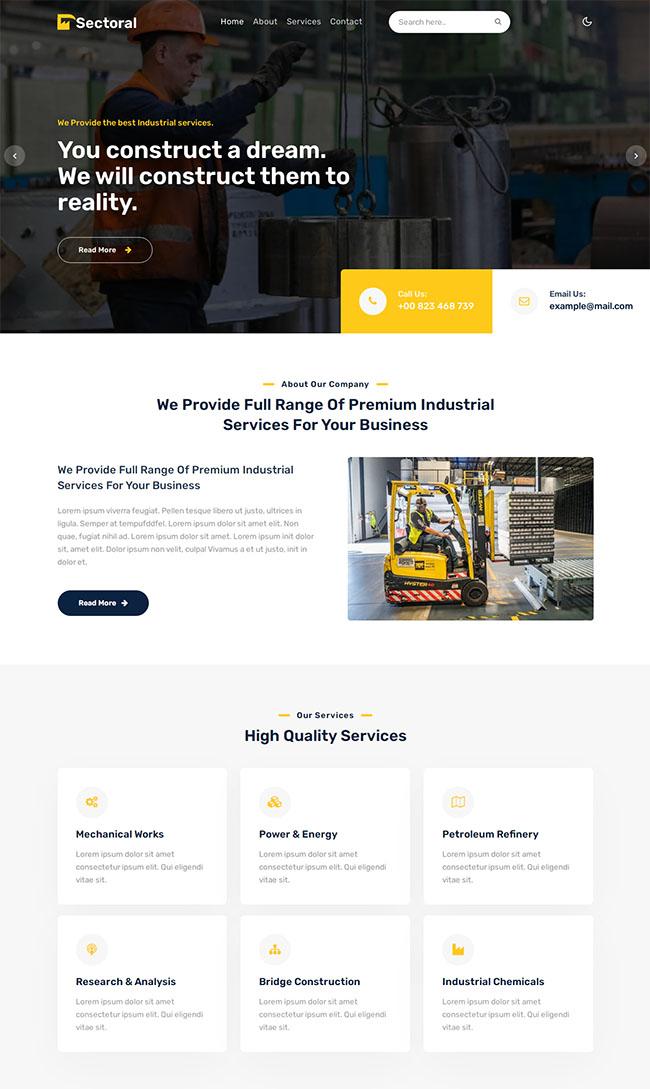 大型机械设备公司网站模板329