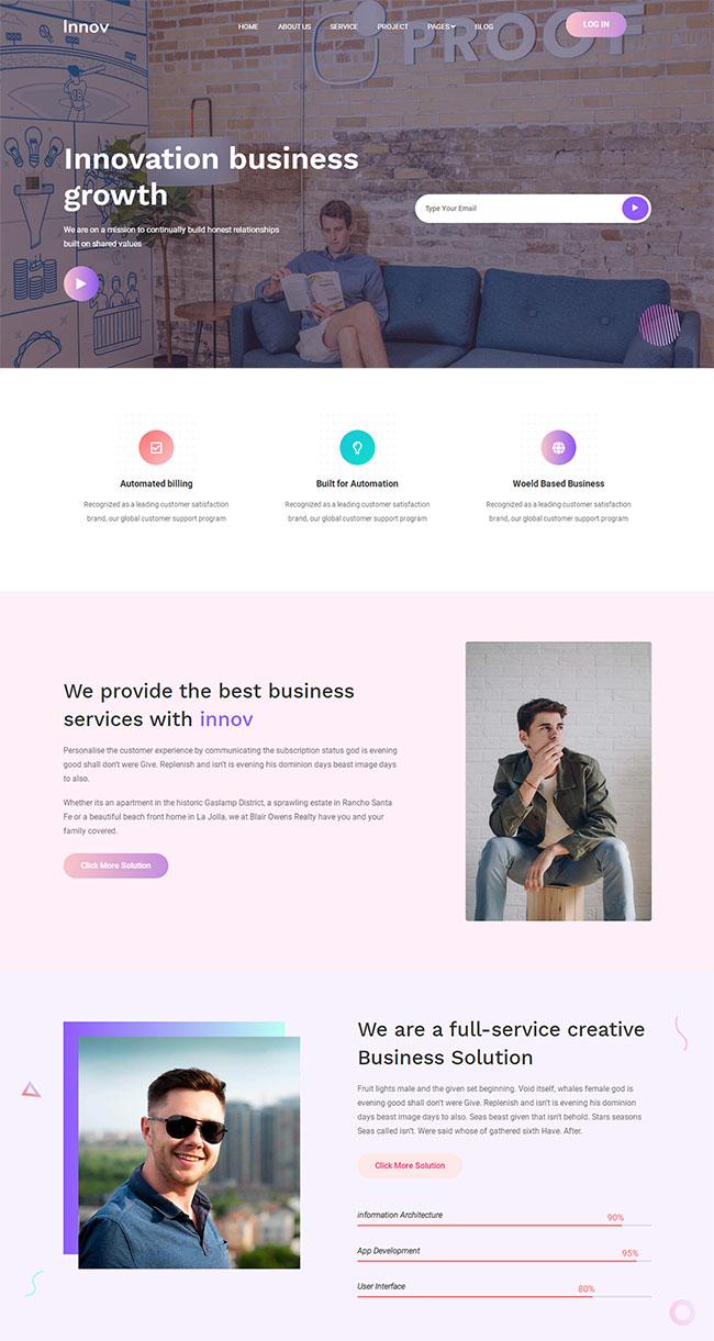 创意商业机构官网网站模板404