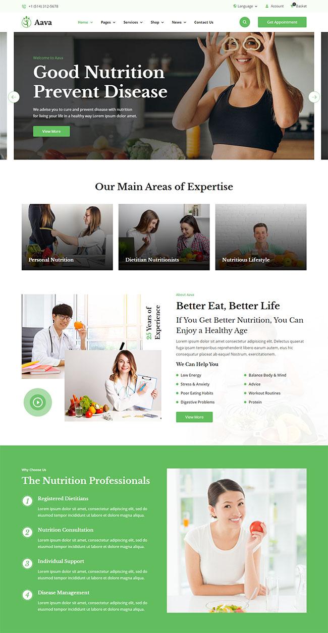 健康减肥饮食方案网站模板414