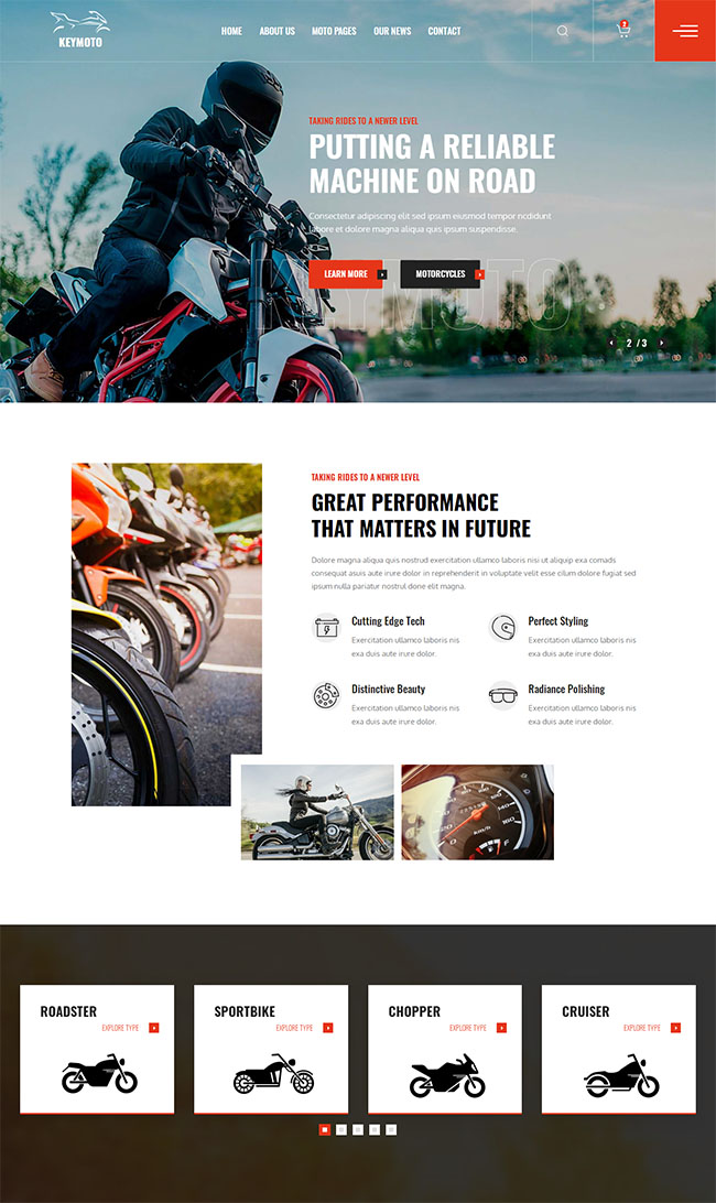 品牌摩托车销售公司网站模板425