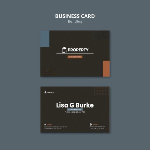 黑色房地产卡片430