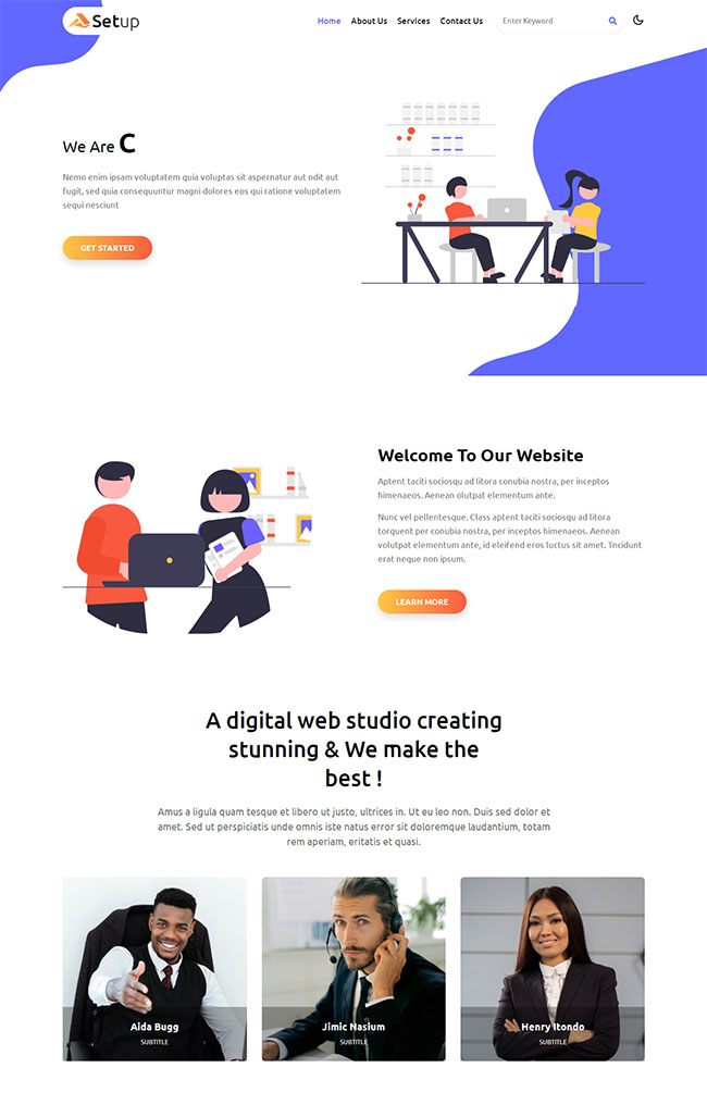 手机UI设计公司HTML5模板501