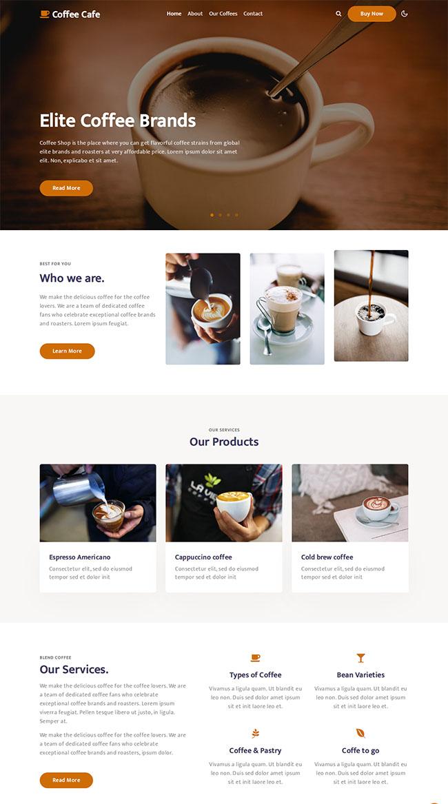 咖啡师培训学校HTML5模板510