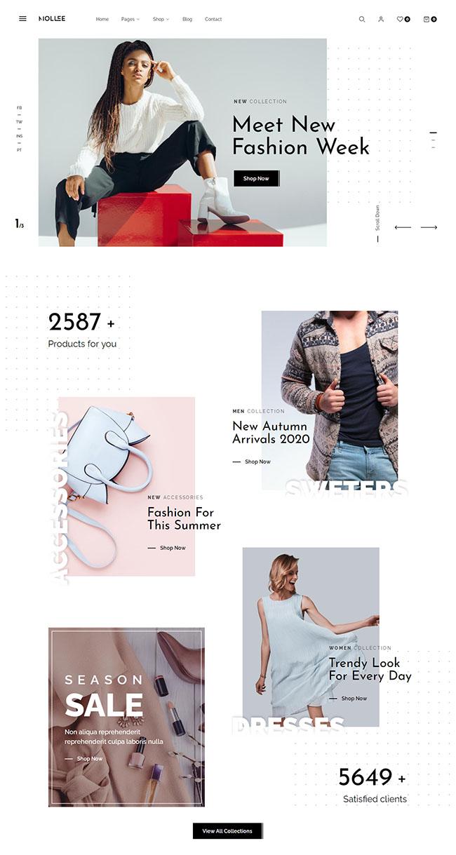 时尚服装商店网站HTML5模板512