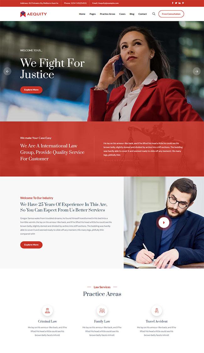 法院律师服务平台网站模板525