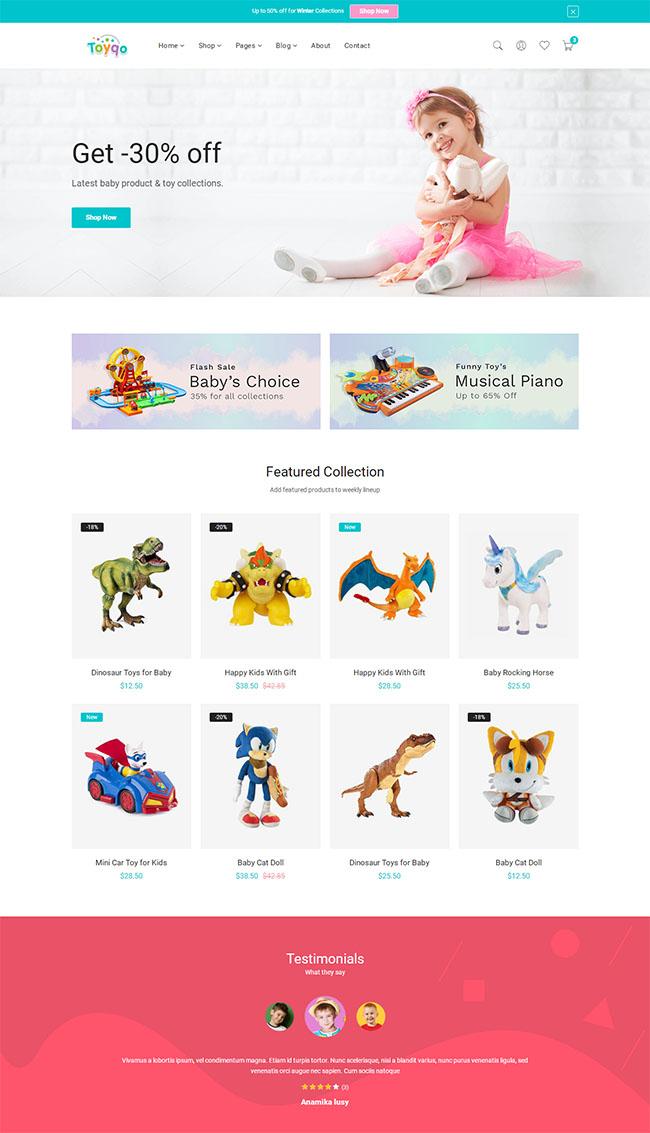 儿童玩具商店Bootstrap模板528