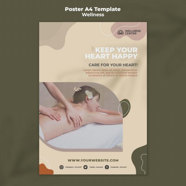养生SPA广告宣传海报528