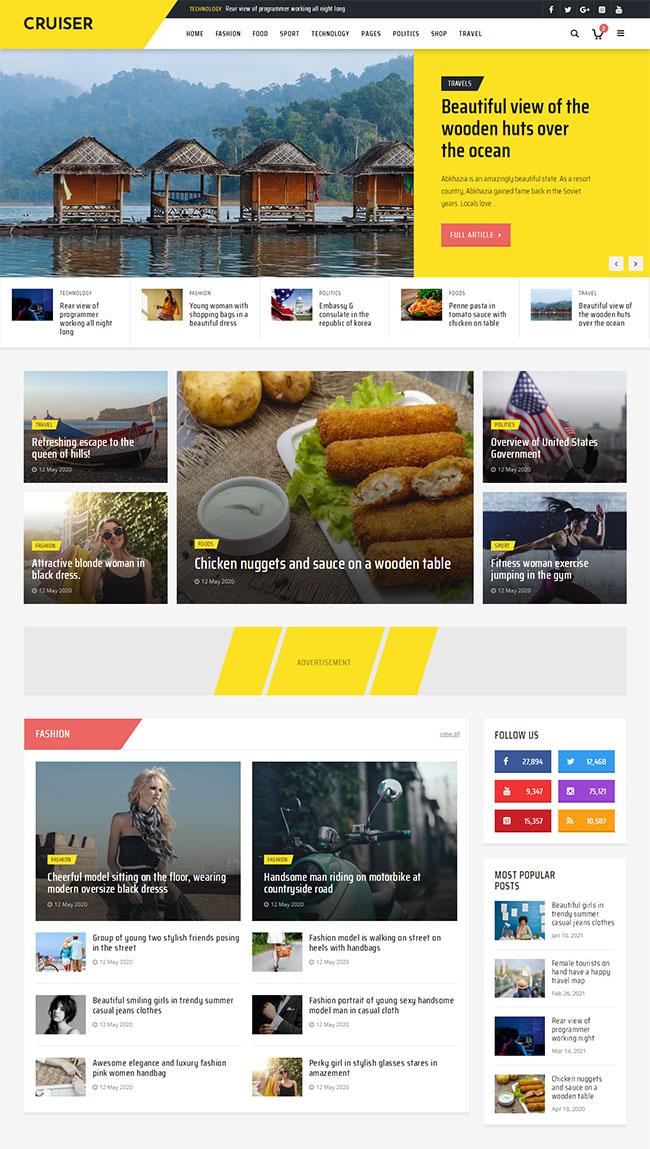 时尚资讯博客网站HTML5模板602