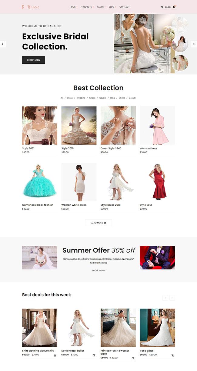 婚纱定制电子商务网站模板608