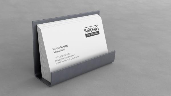 名片盒PSD样机模板608