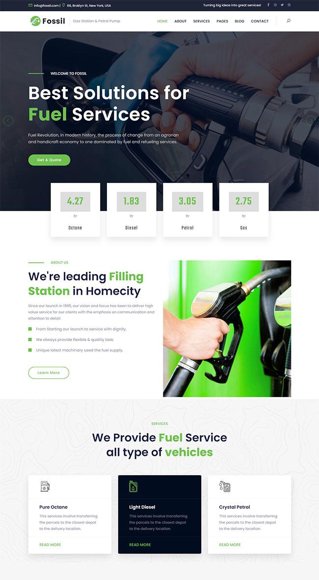 加油燃料环保企业网站模板628