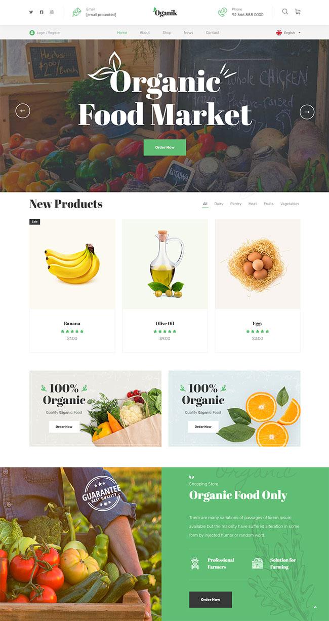 有机食品生态农场网站模板701