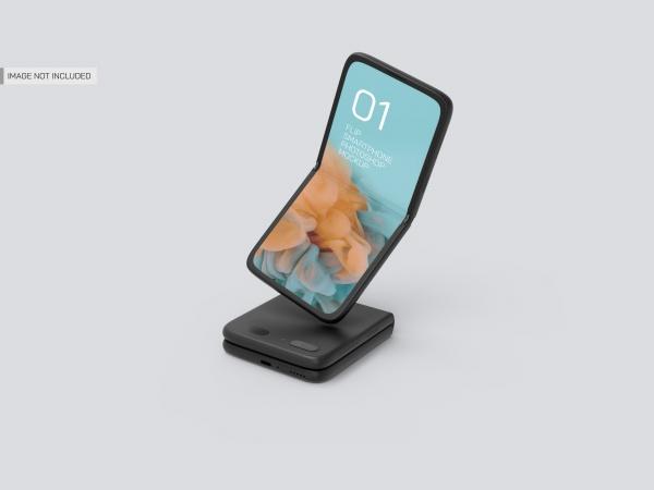 折叠手机样机模板PSD711