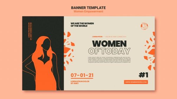 女权横幅模板设计PSD715