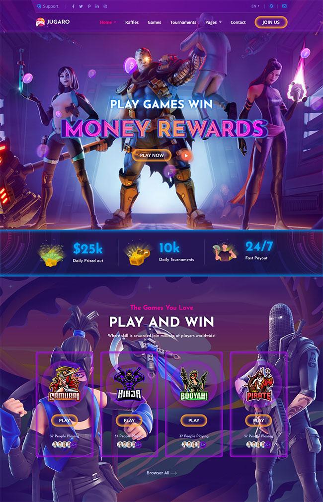 电子竞技游戏官网HTML5模板828
