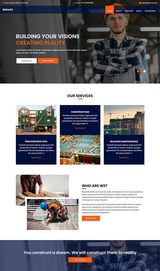 勘测建筑工程公司官网网站模板908