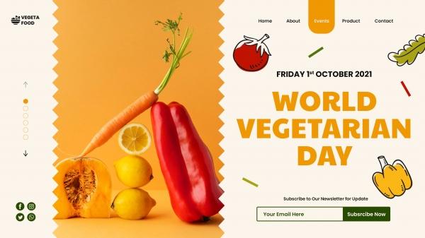 世界素食日登录页模板914