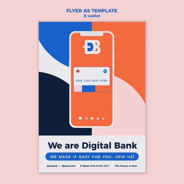 手机电子钱包宣传单设计920