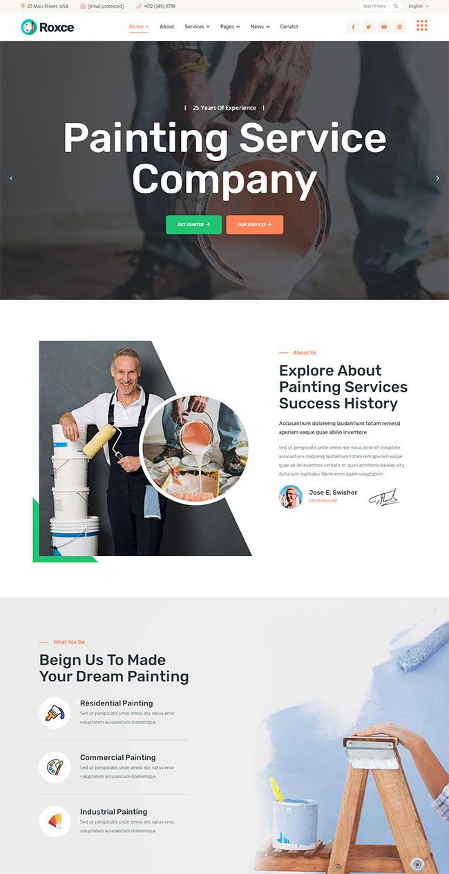 涂料油漆厂家网站HTML5模板922